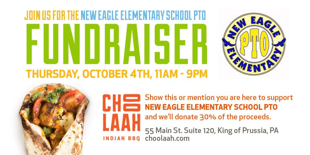 Choolaah fundraiser for New Eagle Elementary